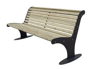 Bank Athen Holz mit Rückenlehne Produktbild
