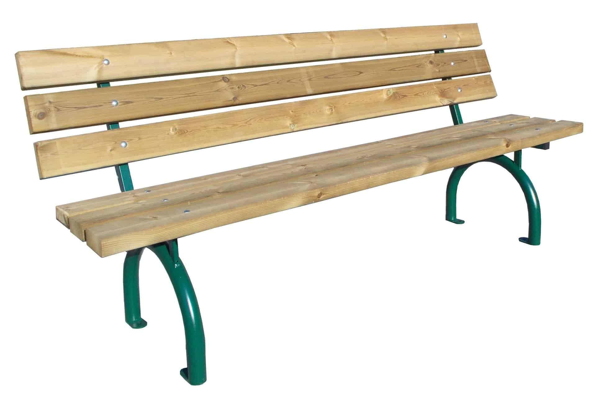 Bank Riviera Holz mit Rückenlehne Produktbild