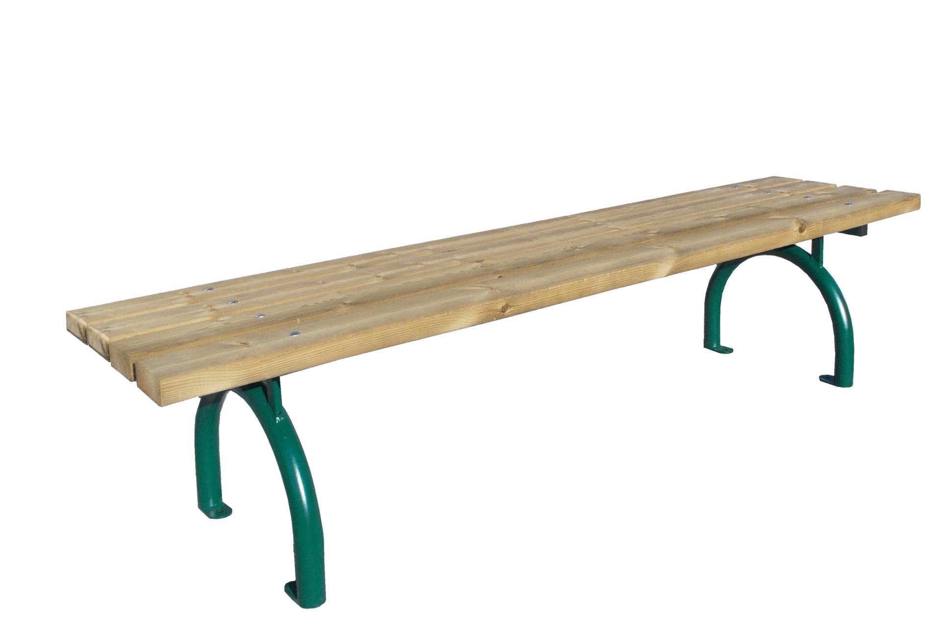 Bank Riviera Holz ohne Rückenlehne Produktbild