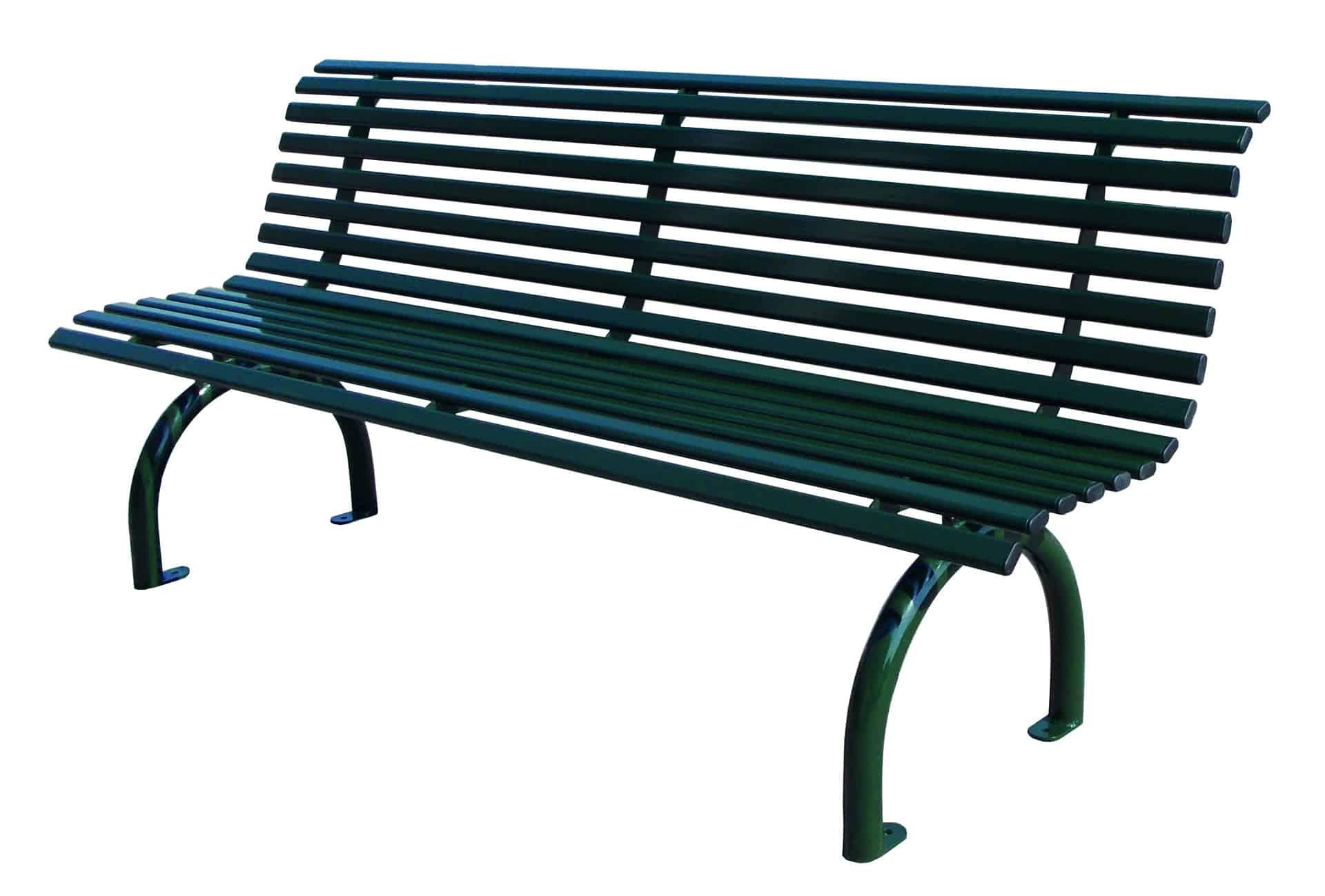 Bank Riviera Stahl mit Rückenlehne Produktbild