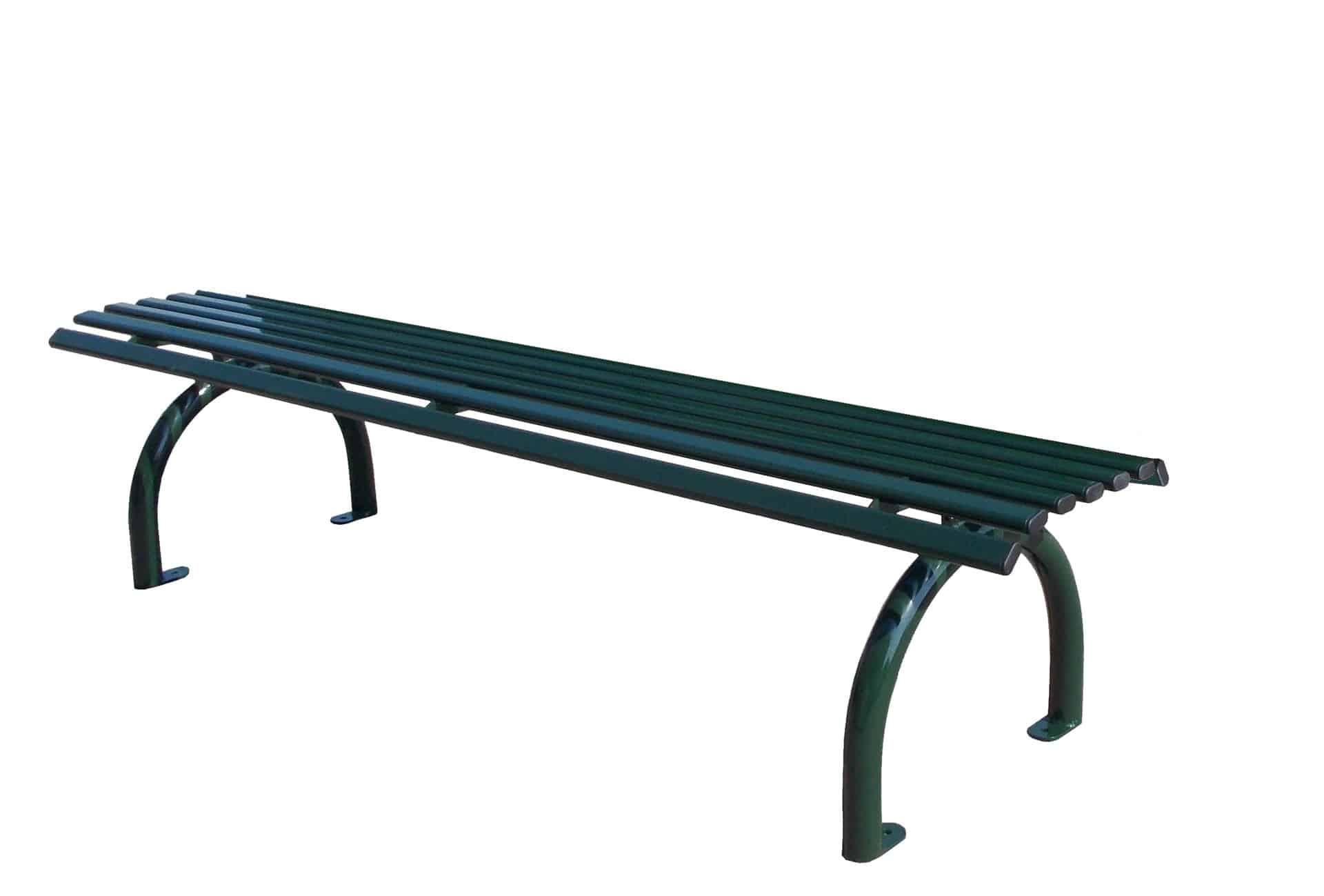 Bank Riviera Stahl ohne Rückenlehne Produktbild