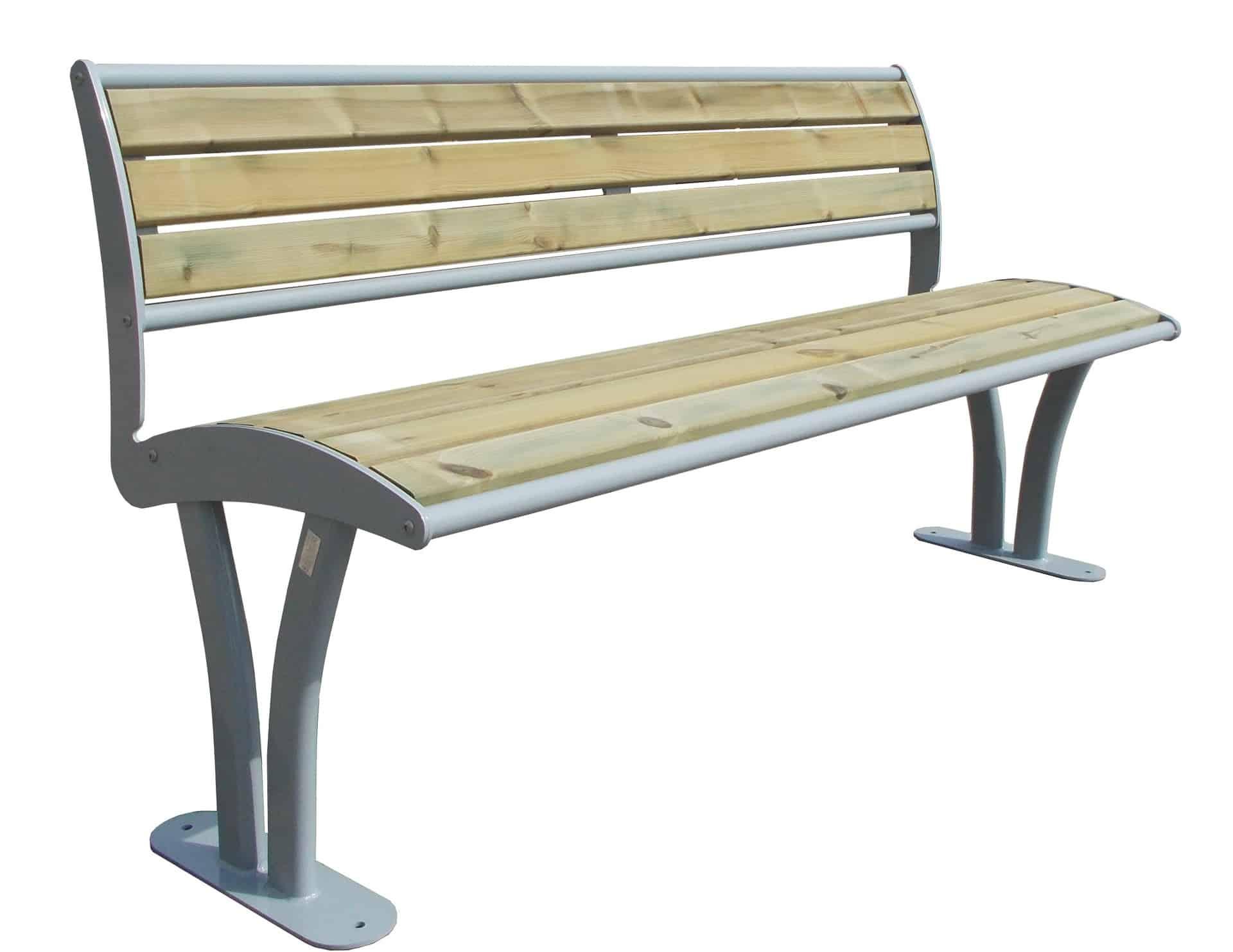 Bank Tauri Holz mit Rückenlehne Produktbild
