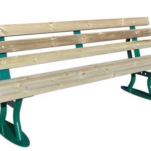 Bank Village Holz mit Rückenlehne Produktbild