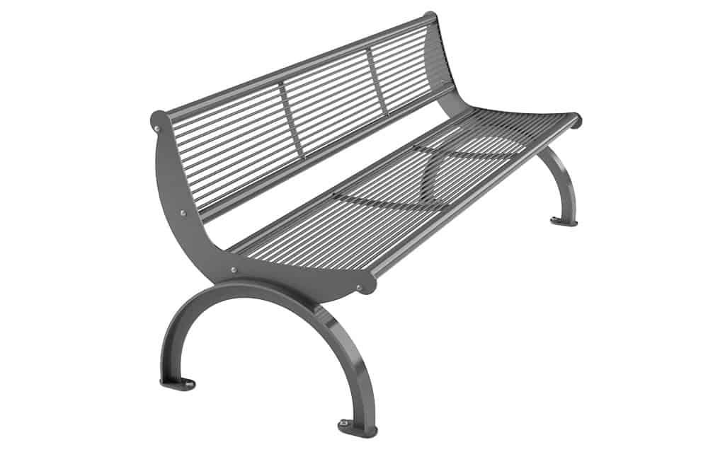 Bank Cetra mit Rückenlehne verzinkt/lackierter Stahl