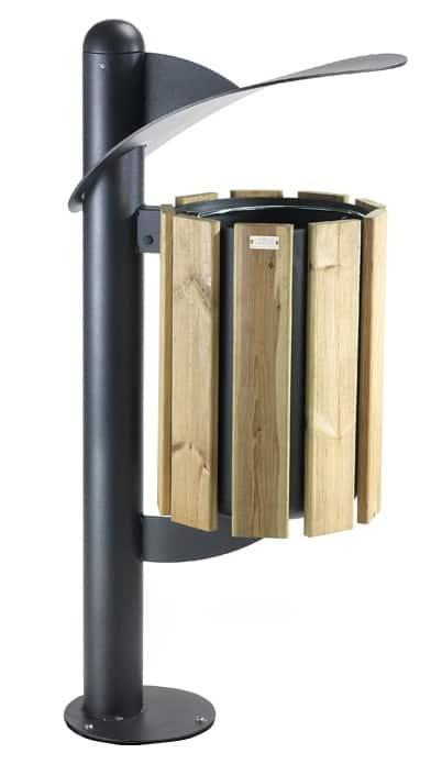 Mülleimer Basket Holzverkleidung Produktbild